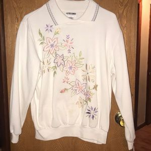 Alfred Dunner Sweaters - Floral sweatshirt